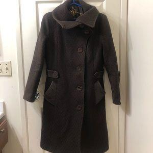 MACKAGE brown wool long coat